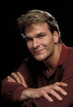 Patrick Swayze, male actor, dancer, artist, Dirty Dancing, r.i.p., lovely smile, hands, portrait, photo