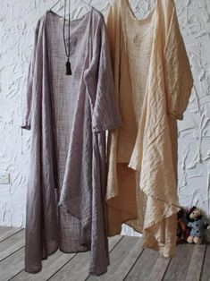 Loose Pure Color Cool Cover-up – uoozee Gauze Clothing, Chic Outfits, Fashion Outfits, Mori Girl Fashion, Fairy Dress, Linen Dresses, Comfortable Outfits, Sewing Clothes, Urban Fashion