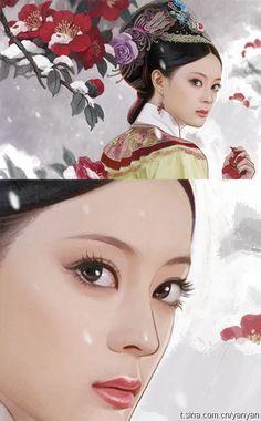 陈柏言作品 甄嬛…_来自羽化了的曾经的图片分享-堆糖网 Chinese Design, Chinese Style, Chinese Art, Illustration Girl, Digital Illustration, Empresses In The Palace, Simple Past Tense, Oriental, Fantasy Character Design