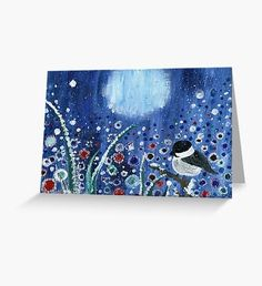 Field of frost Greeting Card Blue Art, Frost, Stationary, Original Paintings, Greeting Cards, Animal, Wall Art, Illustration, Artwork