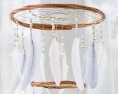 White Dreamcatcher Mobile White Dream Catcher by HippiebyViki