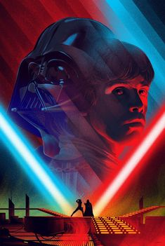 """Cloud City Duel by Kevin Tong. 24""""x36"""" screen print. Hand numbered. Edition of 275. Printed by D&L Screenprinting. $60"""