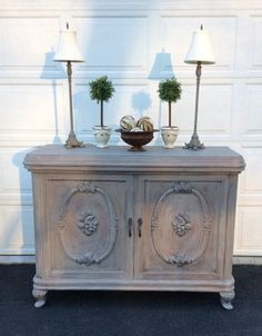 antique buffet server grey sideboard distressed credenza french country console table