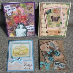 Napkin Collage Cards by Joe Rotella and Joe Morgan of Create & Craft