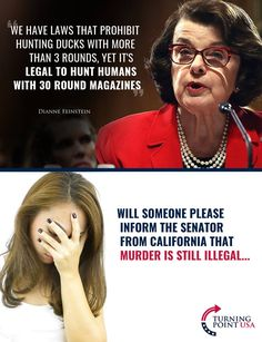 It should be a crime to elect someone this F**king Stupid! It's not legal to hunt human beings no matter how many rounds a firearm holds! Cant Fix Stupid, Stupid People, Funny People, Liberal Hypocrisy, Liberal Logic, Stupid Liberals, Socialism, Political Memes, Political Views
