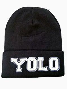 5ca3034cd53 New Look YOLO Beanie In Black