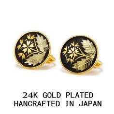 PRIMROSE FLOWER 3 MICRON 24 K GOLD PLATED SCREW LOCK EARRINGS MADE IN JAPAN #AMITA #Stud