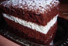 Jednoduché kakaovo-tvarohové řezy Sweet Cakes, Desert Recipes, Vanilla Cake, Nutella, Baked Goods, Tiramisu, Sweet Treats, Deserts, Food And Drink