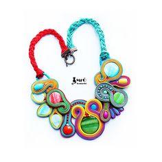 Dreamlike & Colorful Soutache Necklace  OOAK very by MrOsOutache