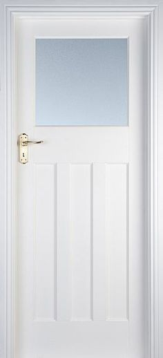 internal & interior doors | White Doors - Solid Pre-Primed Doors | Edwardian 1 Lite (40mm)
