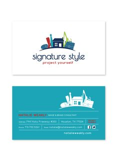 Business card design for Signature Style.  www.natalieweakly.com