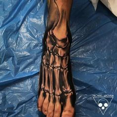 anatomical skeleton tattoo foot #тату #tattoo #tatoo tatoo24.wordpress.com