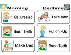 Printable chore chart and reward chart