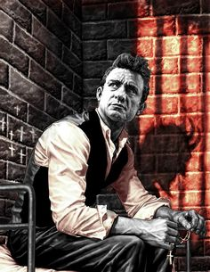 Johnny Cash by Lee Bermejo * << Love this artist, check out his work in his JOKER graphic novel.