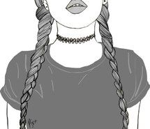 Inspiring image braids, drawing, girl, lips, outline, outlines, tumblr, follow for more #3684345 by marine21 - Resolution 1080x1042px - Find the image to your taste
