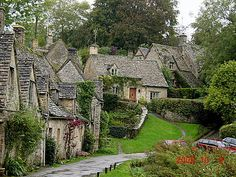 Arlington Row - Bibury, England.  14th century stone buildings that were converted into cottages in the 1600's.