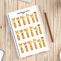 Cute Peeping Giraffes Planner Stickers (S-184)