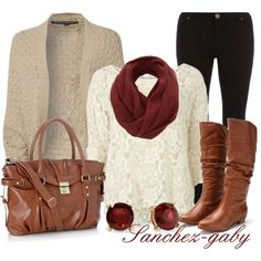 Fall Fashion 2013 | Knitted Cardigan & Lace Shirt | Fashionista Trends