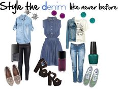 """""""Denim"""" by simplyemmalouise ❤ liked on Polyvore"""
