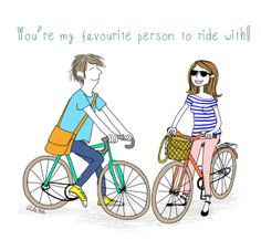 Who's your favourite person to ride with?