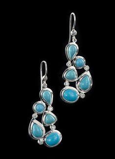 Turquoise & Diamond Sterling Earrings