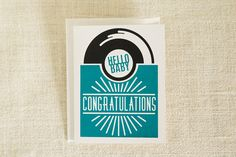 Hello Baby Card by FMCstudio. Screen printed by hand.