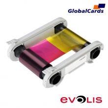 Ribbon Evolis R5F008AAA YMCKO 300 Impressões para Primacy