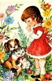 Vintage Greeting Cards, Vintage Postcards, Vintage Images, Illustration Mignonne, Cute Illustration, Betty Boop, Sweet Drawings, Art Mignon, Cool Paper Crafts
