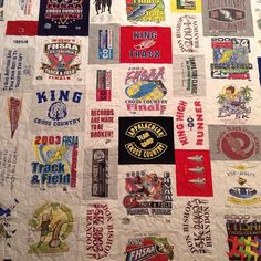 Another #TshirtQuilt , can you tell we made a lot of these for Christmas?