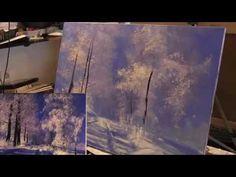 Игорь Сахаров, зимний пейзаж, уроки живописи для взрослых - YouTube