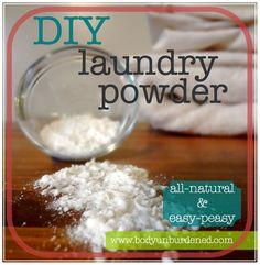 DIY all-natural laundry powder