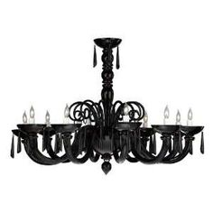 black murano glass chandelier - Google Search
