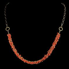 CORAL NECKLACE - Handcrafted Coral Jewelry Collection - Jewel of Havana Handcrafted Jewelry