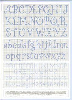 Cross stitch alphabet upper and lower case