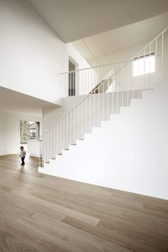 Stair Handrail, Railings, Arch Interior, House Stairs, Staircase Design, Contemporary Architecture, Detached House, Stairways, Custom Homes