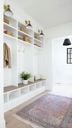 Mudroom Cubbies, Mudroom Laundry Room, Mud Room Lockers, Home Lockers, Built In Lockers, Diy Locker, Room Dimensions, New Homes, Interior Design