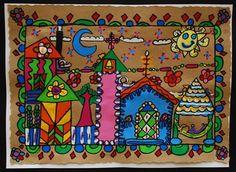 Artsonia Art Museum :: Mexican Bark Painting