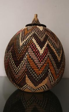 Zulu Telephone Cable Wire Wedding Basket, South Africa