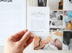 Green Fingerprint: project life | starting owen's baby album