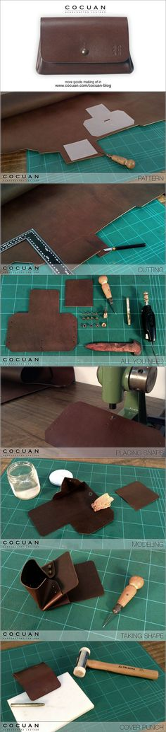 Card coin wallet making of www.cocuan.com