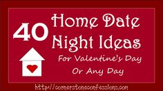 40 Home Date Night Ideas for Valentine's Day or Any Day @Breyers #GelatoLove #contest