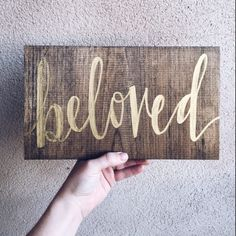 We are so excited to introduce The Beloved Collective! This is a select group of handcrafted goods designed and created specifically for The Simply Beloved by members of the Beloved community. Proceeds from these items go directly towards funding our upcoming magazine + app! Beloved sign by Cailyn Davidson, @cailyndavidson