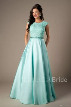 Coral Satin Lace Long Modest Prom Dresses 2017 Cap Sleeves A-line Beaded Elegant Beaded Girls Formal Mint Evening Prom Party Dresses Cheap Long Prom Dresses Modest Prom Dresses Modest Prom Dresses With Sleeves Online with $228.06/Piece on Totallymodest's Store | DHgate.com