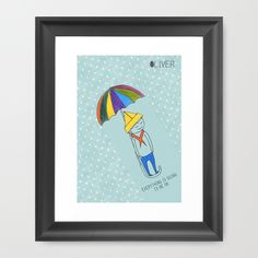 A little inspiration goes a long way so everything is going to be okay. I promise. Don't freak out. I wouldn't lie to you. Trust me.  Buy Okay by Oliver illustration as a high quality Framed Art Print. Worldwide shipping available at Society6.com. Just one of millions of products available.