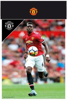 Manchester United Pogba 17/18 Bagged Photographic Print