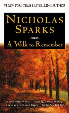 my first nicholas sparks book