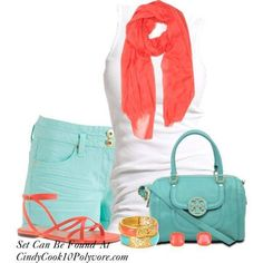 turquoise and coral!