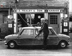 """This next FILL IT UP FRIDAY Shot is 1 of my all time favourites. It's the """"Push Me Pull Me"""" Mini having its tanks topped up. I always wondered if which side gets in first dictates which direction they go??? Lol, great bit of Mini fun!"""