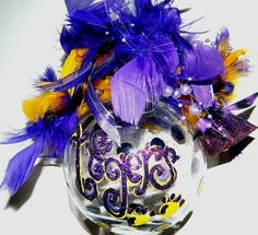 LSU Inspired Christmas Ornament by TeriClothCreations on Etsy, $14.95