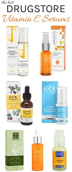 The Best Vitamin C Serums: Drugstore to High-End The Ultimate list of best drugstore Vitamin C Serums! If fine lines, dark spots and sun damage are messing with your complexion, you need these vitamin c serums to get naturally glowing skin! Organic Skin Care, Natural Skin Care, Natural Beauty, Organic Makeup, Maquillage Normal, Beste Concealer, Best Vitamin C, Skin Care Routine For 20s, Skincare Routine